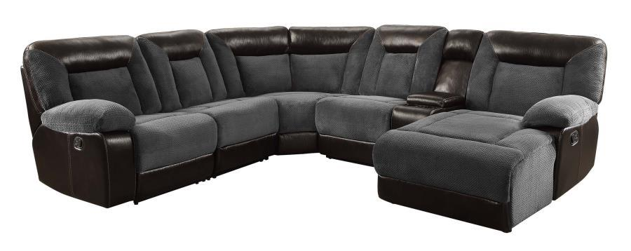 Grey Leather Reclining Sectional Grey Leather Reclining Sectional ...  sc 1 st  Steal-A-Sofa Furniture Outlet : black leather reclining sectional - Sectionals, Sofas & Couches