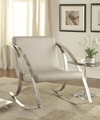 Grey Leather Rocking Chair