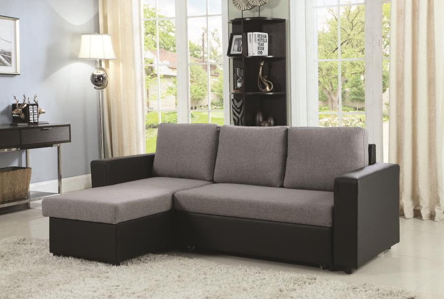Grey Leather Sofa - Steal-A-Sofa Furniture Outlet Los Angeles CA