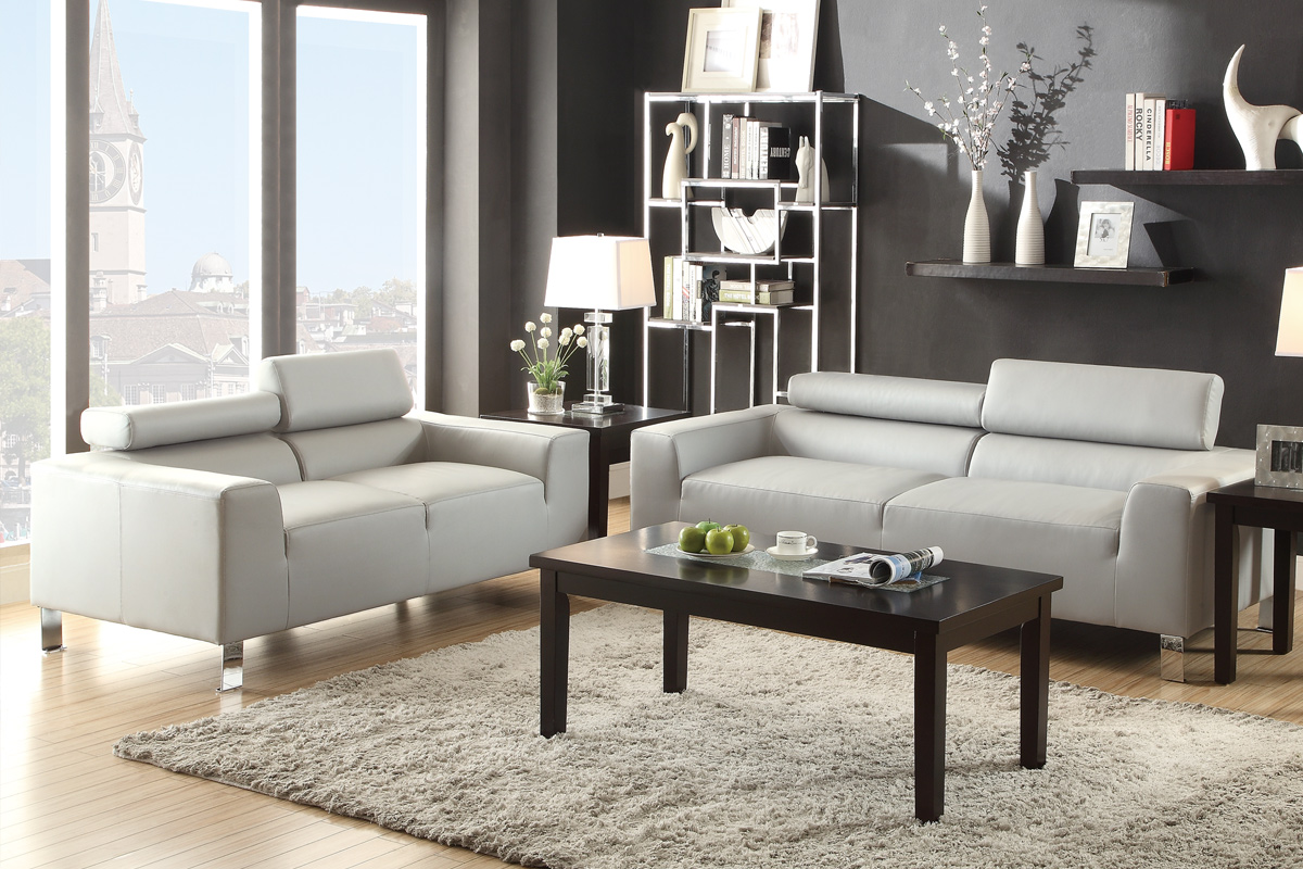 Grey Wood Sofa And Loveseat Set Steal A Sofa Furniture