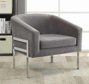 Grey Metal Accent Chair