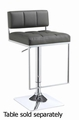 Grey Metal Bar Stool