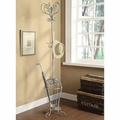 Grey Metal Coat Rack
