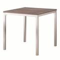 Grey Metal Dining Table
