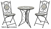 Grey Metal Dining Table and Chair Set
