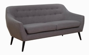 Grey Metal Loveseat