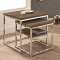 Grey Metal Nesting Table
