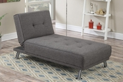 Grey Metal Reclining Chaise