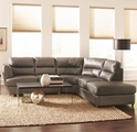 Grey Metal Sectional Sofa