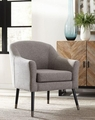 Grey Wood Accent Chair