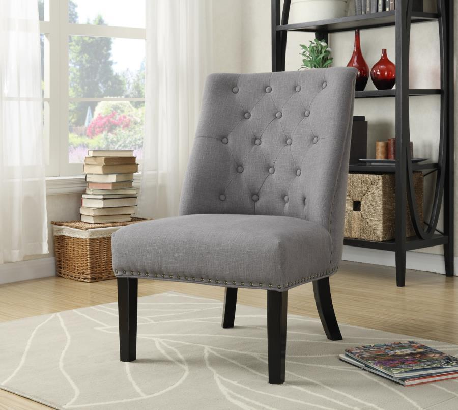 Grey Wood Accent Chair - Steal-A-Sofa Furniture Outlet Los ...