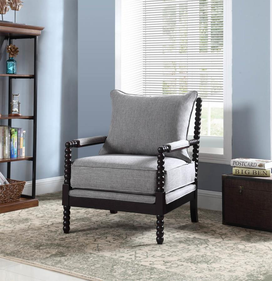 Grey Wood Accent Chair Steal A Sofa Furniture Outlet Los