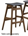 Grey Wood Bar Stool