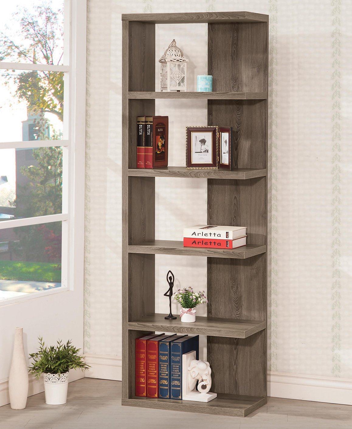 leaning ladder number with drawers coaster item bookshelf bookcase products bookcases