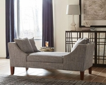 Grey Wood Chaise Lounge