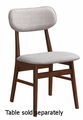 Grey Wood Dining Chair