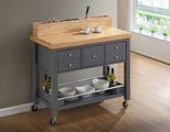 Grey Wood Kitchen Island