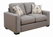 Grey Wood Loveseat