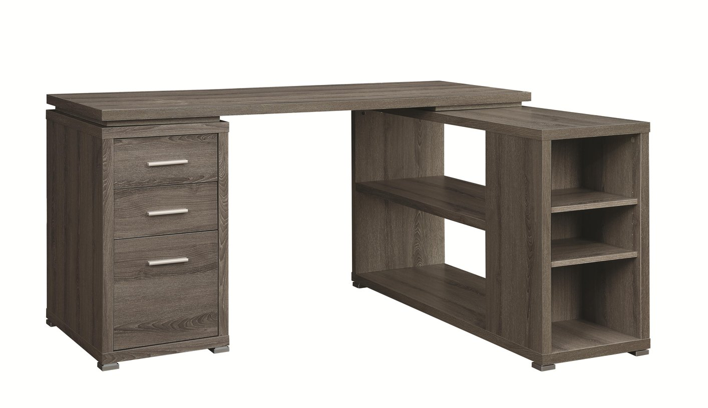 Coaster 800518 grey wood office desk steal a sofa furniture outlet los angeles ca - Wood office desk ...