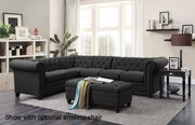 Grey Wood Sectional Sofa
