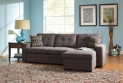 Gus Black Fabric Sectional Sleeper Sofa