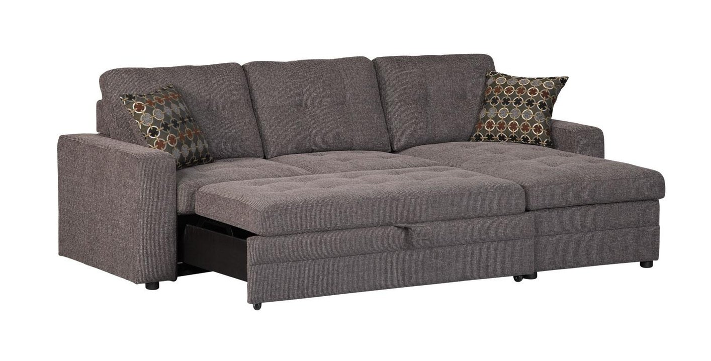 Coaster gus 501677 black fabric sectional sofa steal a for Black fabric couches