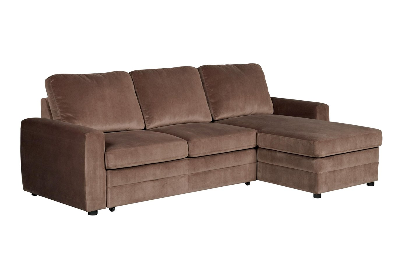 Coaster gus 503871 brown fabric sectional sofa steal a for Brown fabric couch
