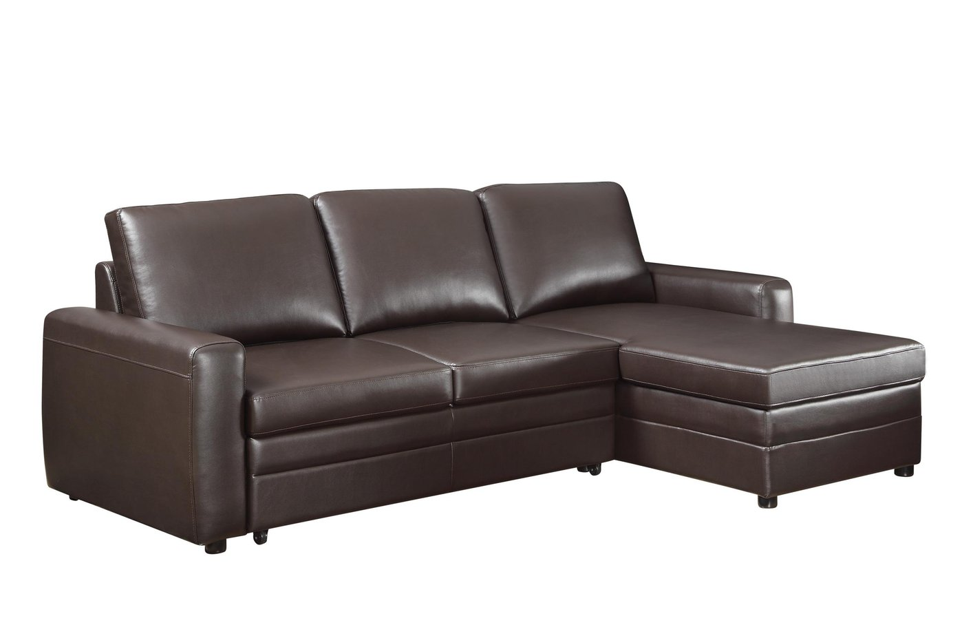 Coaster gus 503870 brown leather sectional sofa steal a for Gus sectional sleeper sofa