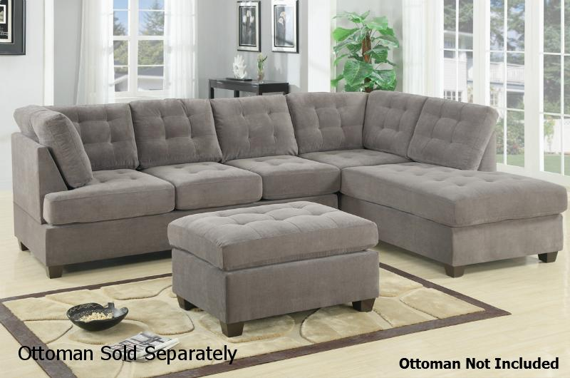 fabric sectional furniture steal charcoal sofa gustav poundex outlet los a grey