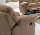 Harmon Brown Microfiber Recliner