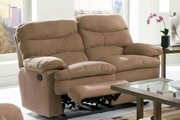 Harmon Brown Microfiber Reclining Loveseat
