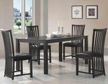 Hayden Cappuccino Wood Dining Table Set