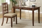 Brown Wood Writing Desk Set