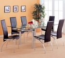 Himmarshee Black Metal And Glass Dining Set