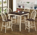 Hollis Buttermilk And Cherry Wood Pub Table Set