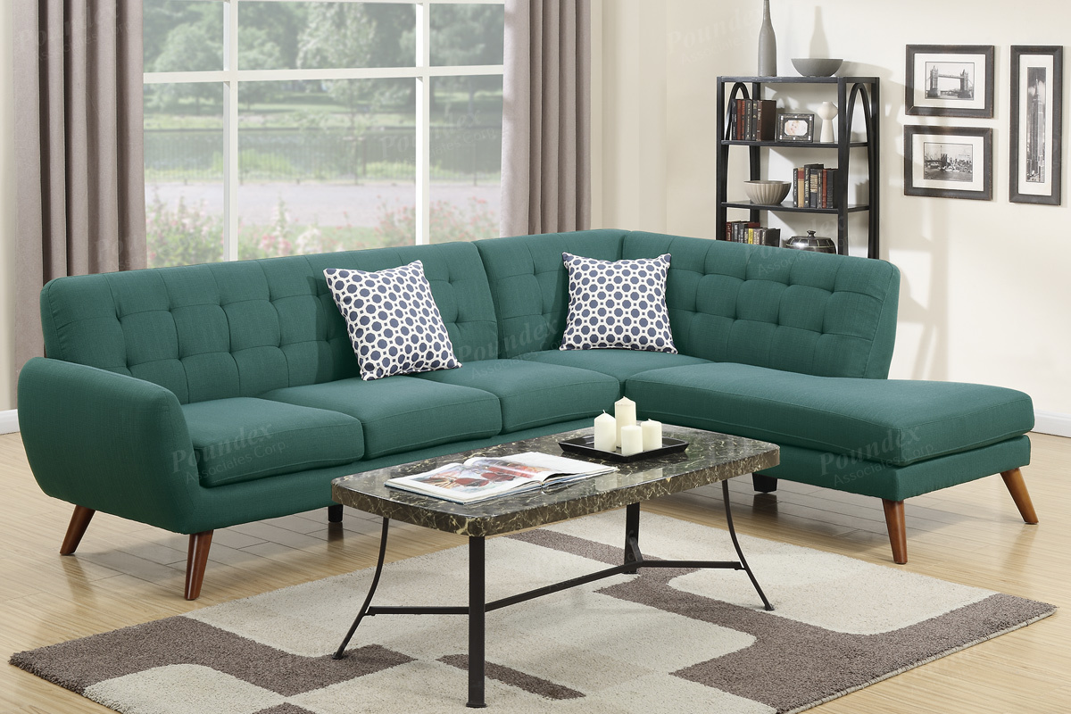 poundex a steal sofa fabric peridot iii montreal sectional green furniture