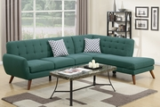 Honig Green Fabric Sectional Sofa