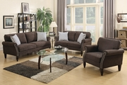Hypnos Brown Fabric Sofa Loveseat and Chair Set