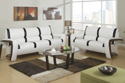Alina Black Leather Sofa and Loveseat Set