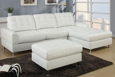 Naomi White Metal Sectional Sofa