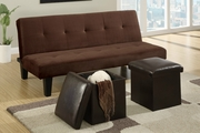 James Chocolate Microfiber Futon