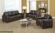 Jasmine Brown Leather Sofa and Loveseat Set