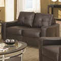 Jasmine Brown Leather Loveseat