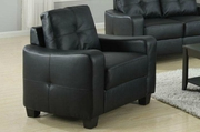 Jasmine Black Leather Chair