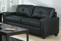 Jasmine Black Leather Sofa