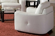 Jasmine White Leather Chair