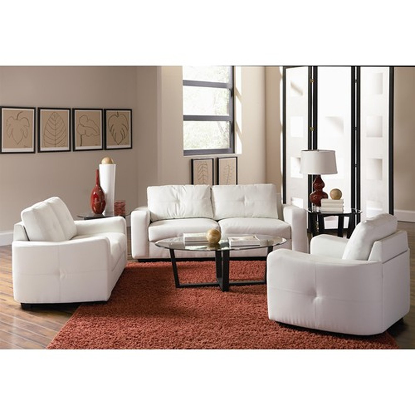 Jasmine White Leather Loveseat Steal A Sofa Furniture Outlet Los Angeles Ca