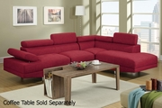 Jezebel Red Metal Sectional Sofa