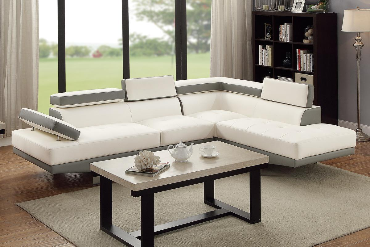 White Leather Sectional Sofa Steal A Sofa Furniture Outlet Los
