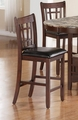 Jovan Rich Brown Wood Pub Stool (Min Qty 2)